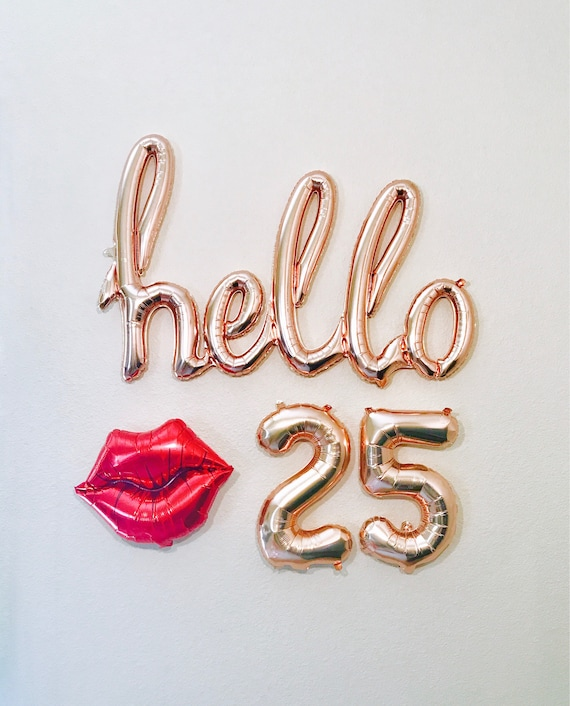 25 30 30 Helloworld: Rose Gold Hello 25 Hello 25 25th Birthday 25 Years Rose
