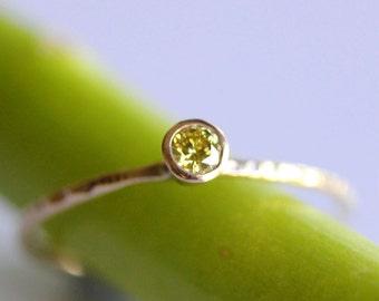 Yellow Diamond In 14K Yellow Gold Ring