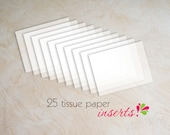 Items similar to Tissue paper inserts for wedding invitations 45