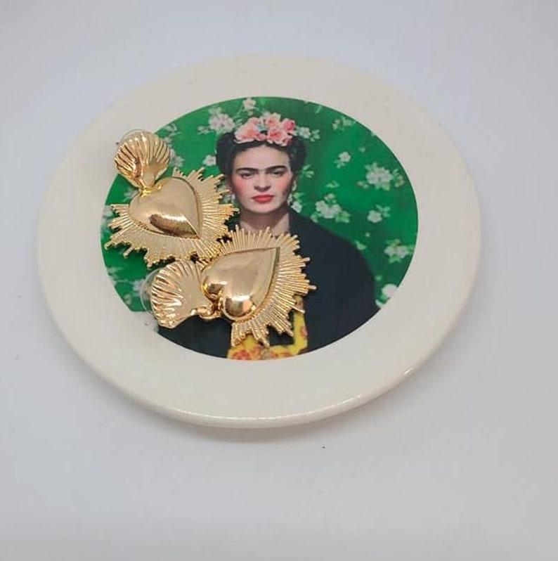Ceramic Jewelry Tray Frida green