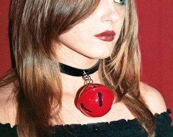 Mega Huge Red Bell Collar