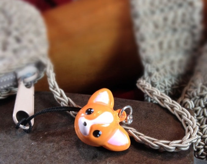 Cute Chiuaua  Dog  Bell Charm for Cell Phone, Zipper or Keychain