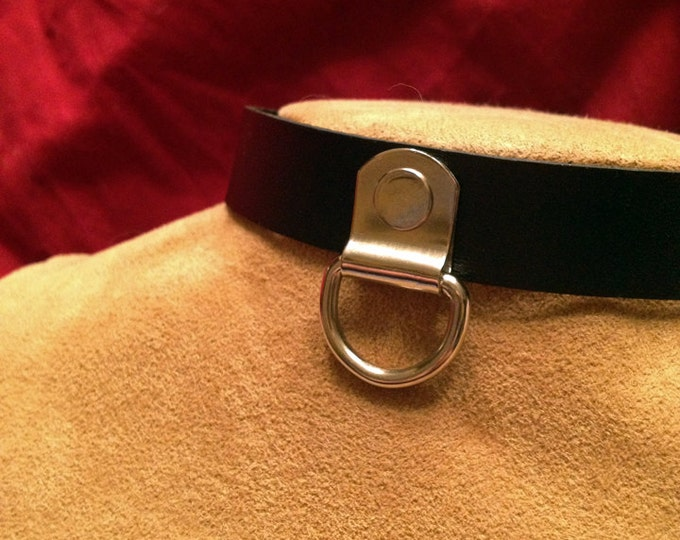 Single D Ring Leather Collar