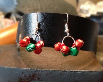 Mini Christmas Bell Dangle Earrings