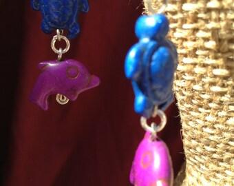 Aquatic Themed Dangle Earrings