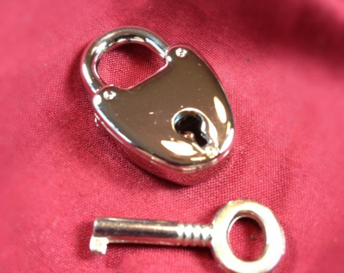 Small Nickel Plated Working Padlock