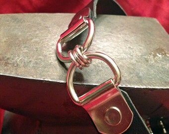 Double D Ring Leather Collar