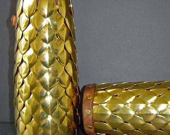 Brass Dragon Scale Bracer
