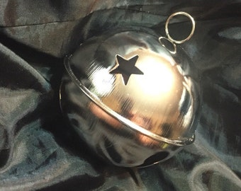 """Large silver colored bell. Almost 4""""!"""