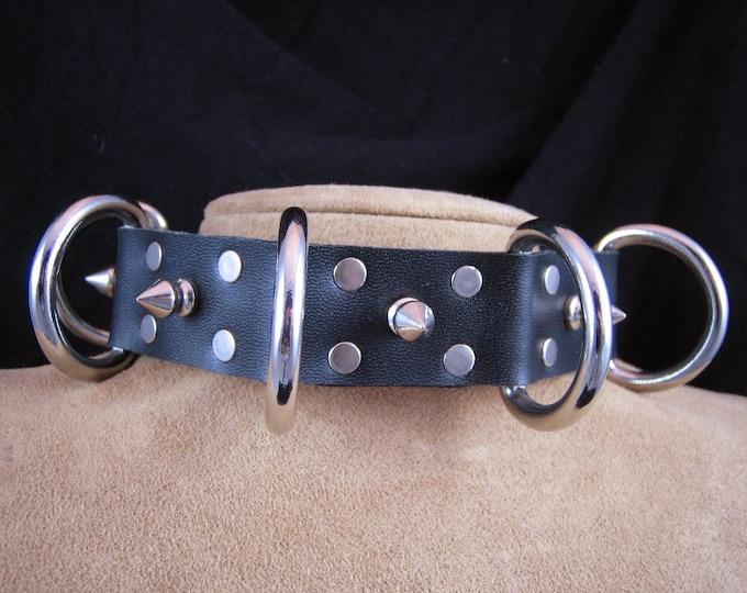 Large D-Ring Bondage Collar