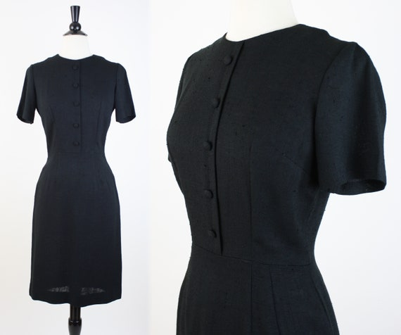 vintage 60s dress | 1960s black cocktail dress ray