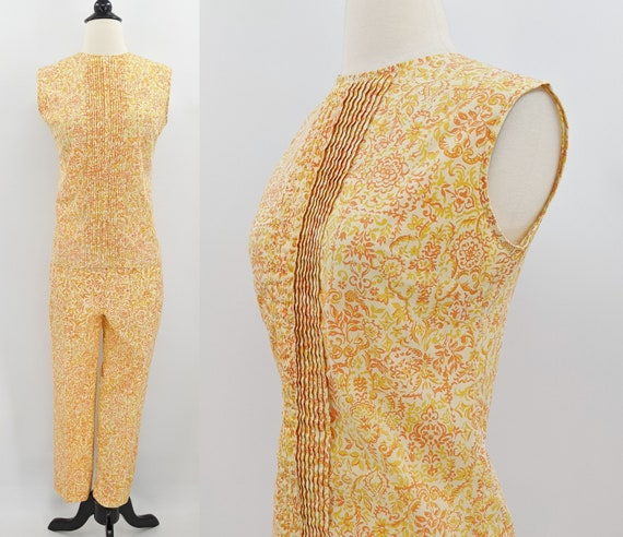 vintage 60s top and pants set | 1960s Jantzen yell