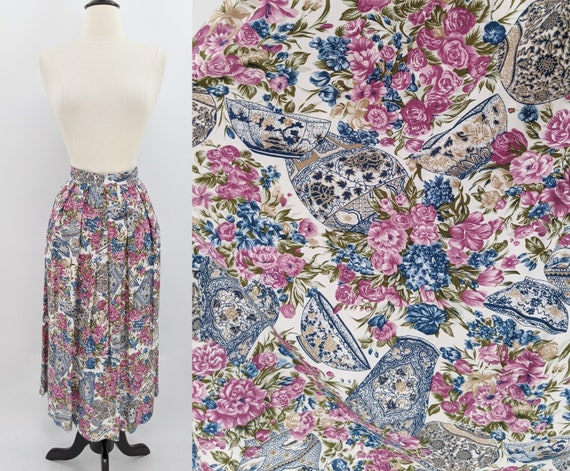 vintage 80s Asian print skirt | 1980s That's Me! f