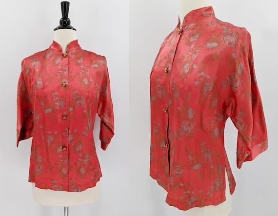 vintage 40s Asian blouse | 1940s Tom Girl Eastern