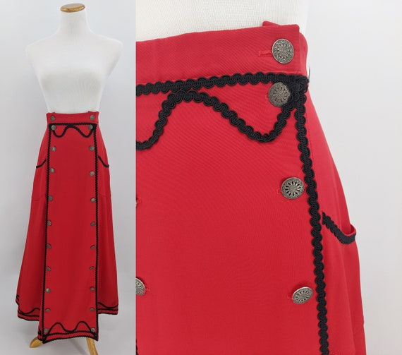 vintage Victorian riding skirt reproduction | red