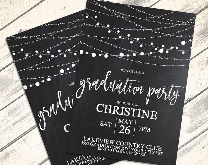 Graduation Party Invitation - Graduation Celebration,Class of 2018,University,High School | Editable Text Instant Download PDF Printable Kit