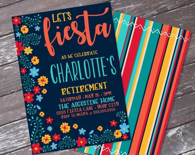 Fiesta Retirement Party Invitation - Cinco De Mayo, Fiesta Retirement Party   Editable Text - Instant Download PDF Printable