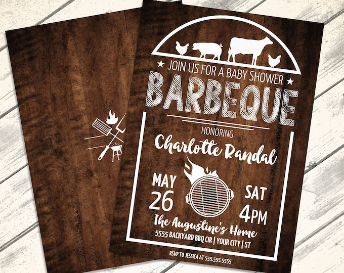 I do BBQ Shower Invitation - Bridal Shower, Barbecue Invite, Barbeque Shower, Summer Shower | Editable Text - Instant Download PDF Printable