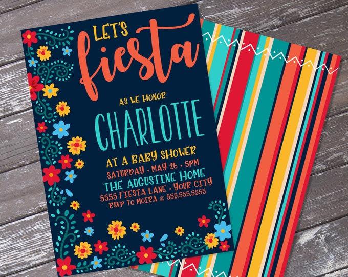 Fiesta Baby Shower Invitation - Cinco De Mayo, Fiesta Shower Party | Editable Text - Instant Download PDF Printable