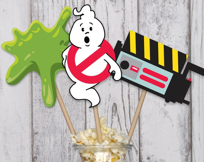 Ghostbusters Party Centerpieces - Cutouts - Table Decorations | INSTANT Download PDF Printable