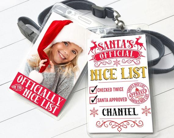 Santa's Nice List - Elf Report, Santa's Official Nice List, Christmas Party   Self-EdiT with CORJL - INSTANT Download Printable