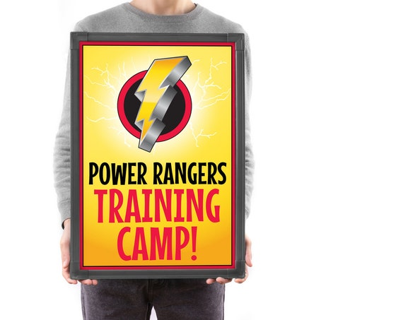 Power Ranger Inspired Party Sign - Power Ranger Training Camp Sign,Ranger Party | Self-Edit with CORJL - INSTANT DOWNLOAD Printable Template