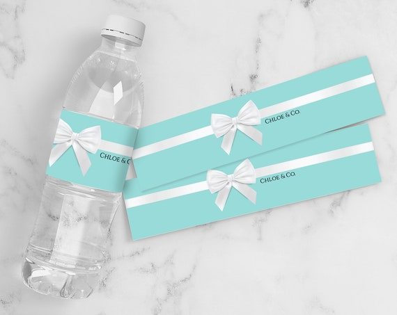 Sweet Sixteen Water Bottle Label - Sweet 16 Birthday Party, Turquoise Drink Label | Self-Editing with CORJL - INSTANT DOWNLOAD Printable
