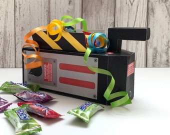 Ghost-buster Trap Box - Ghost-buster Party Favor Box, Ghostbusters Birthday, Containment Box | Instant Download DIY Printable PDF Kit