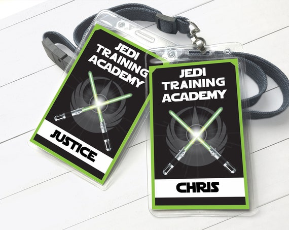 Star Wars Jedi Training Academy Badge - Empire Badges, Star Wars Birthday Party   Self-Editing with CORJL - INSTANT DOWNLOAD Printable