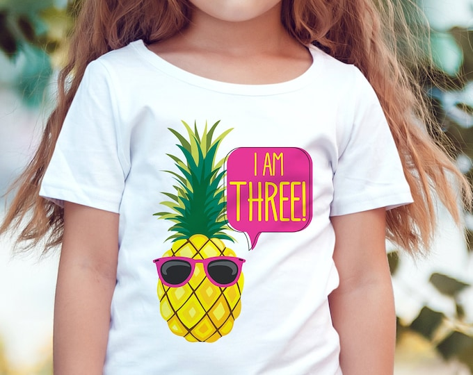 Pineapple T-Shirt Iron-On Printable - Make Your Own T-Shirt, Pineapple Party | Self-Editing with CORJL - INSTANT DOWNLOAD Printable
