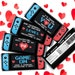 samantha moody reviewed VALENTINE Switch Candy Bar Label/Wrapper - 4 Different Video Game Candy Bar Labels | Self-Edit with CORJL - INSTANT Download Printable
