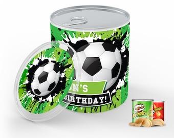 Soccer Party Mini Pringles Label - Soccer Mini Pringles Wrapper, Soccer Birthday | Self-Editing with CORJL - INSTANT Download Printable
