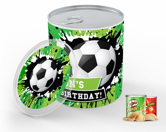 Soccer Party Mini Pringles Label - Soccer Mini Pringles Wrapper, Soccer Birthday | Self-Editing with CORJL - INSTANT Download Printable