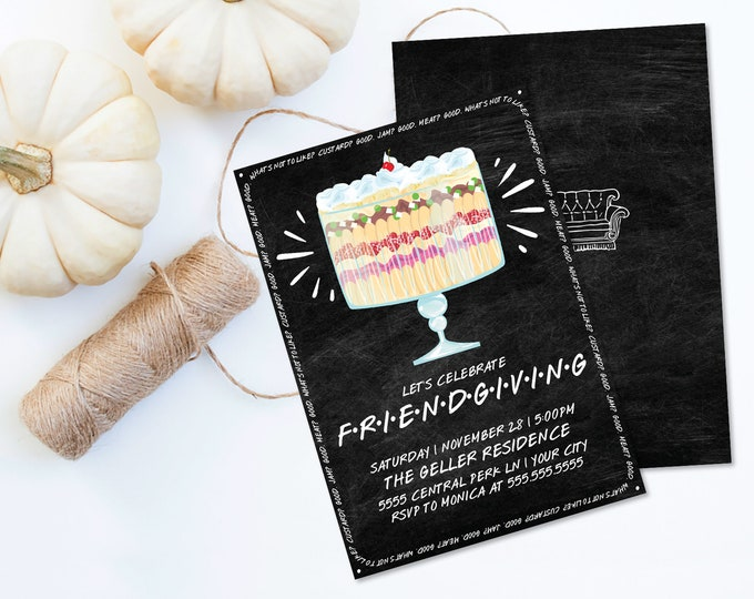 Friendsgiving Invitation, Friends Thanksgiving Invite, Thanksgiving Dinner | Self-Editing with CORJL - INSTANT DOWNLOAD Printable