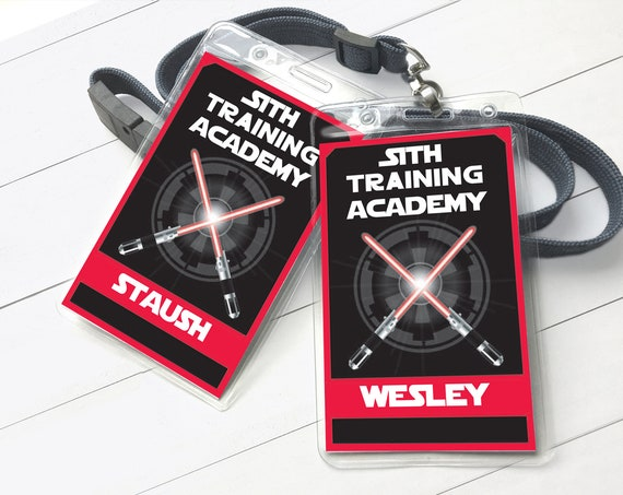 Star Wars Sith Training Academy Badge - Empire Badges, Star Wars Birthday Party | Self-Editing with CORJL - INSTANT DOWNLOAD Printable