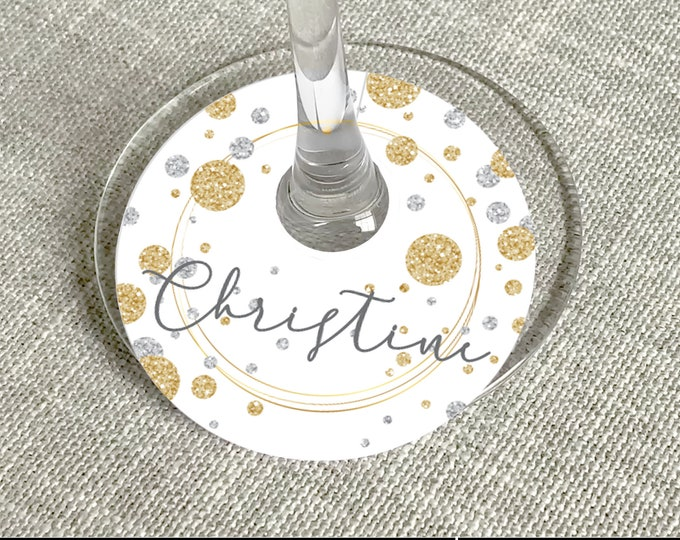 Pop Fizz Clink Glass Tag, Wine Glass Slipper - New Years Eve Party, NYE Party | Self-Edit with CORJL - INSTANT Download Printable