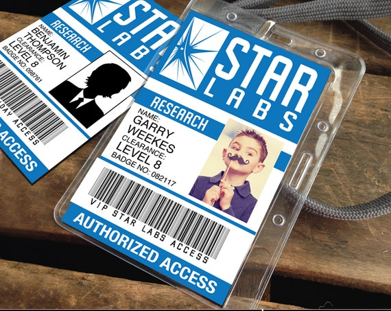Star Labs ID Badge, The Flash - Flash Party Favor, Flash I.D. Badge | Self-Editing with CORJL - INSTANT Download Printable