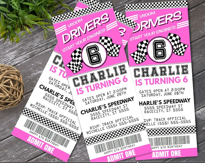 Cars Ticket Invitation - Cars Party, Race Car Party, Cars Invite, Ticket Invitation | Self-Editing with CORJL - INSTANT DOWNLOAD Printable