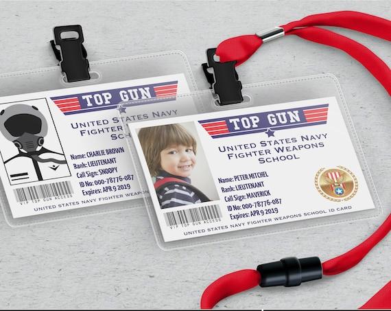 Fighter Pilot License - Top Gun Pilot ID Badges, Fighter Pilot, Fighter Pilot | Self-Edit with CORJL - INSTANT Download Printable Template