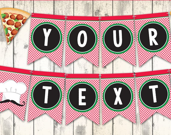 Pizza Banner - Pizza Party Banner, Pizza Decor, Pizza Banner, Baking Party Banner | DIY - INSTANT Download Printable PDF
