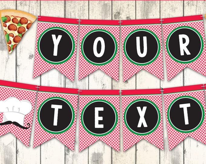 Pizza Banner - Pizza Party Banner, Pizza Decor, Pizza Banner, Baking Party Banner | DIY - INSTANT Download Printable PDF
