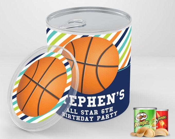 Basketball Birthday Party Mini Pringles Label - Mini Pringles Wrapper, Basketball Party   Editable Text - Instant Download PDF Printable