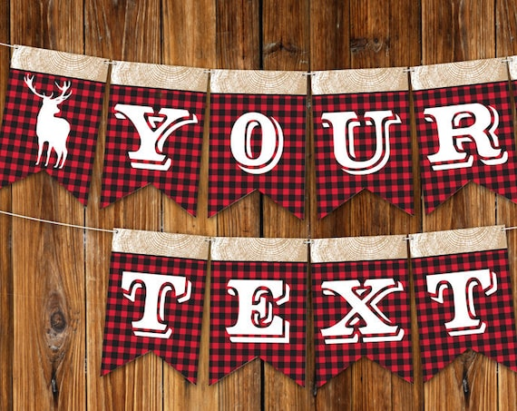 Lumberjack Banner - Lumberjack Party Banner, Lumberjack Decor - Lumberjack Birthday, First Birthday DIY - INSTANT Download Printable PDF