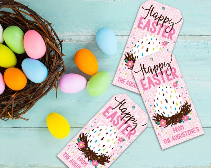 Easter Favor Tag - Easter Favor Tag, Gift Tag, Party Tag | Editable Text - Instant Download PDF Printable