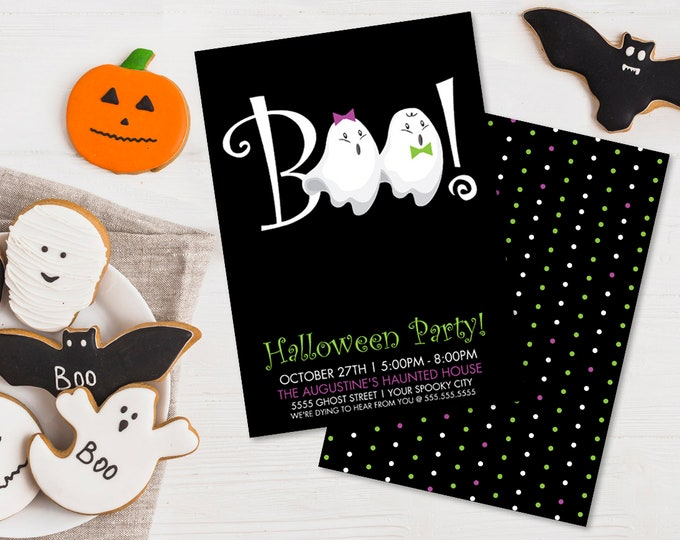 Ghost Party Invitation - Halloween Party, Monster Mash, Costume Party | Editable Text - DIY Instant Download PDF Printable