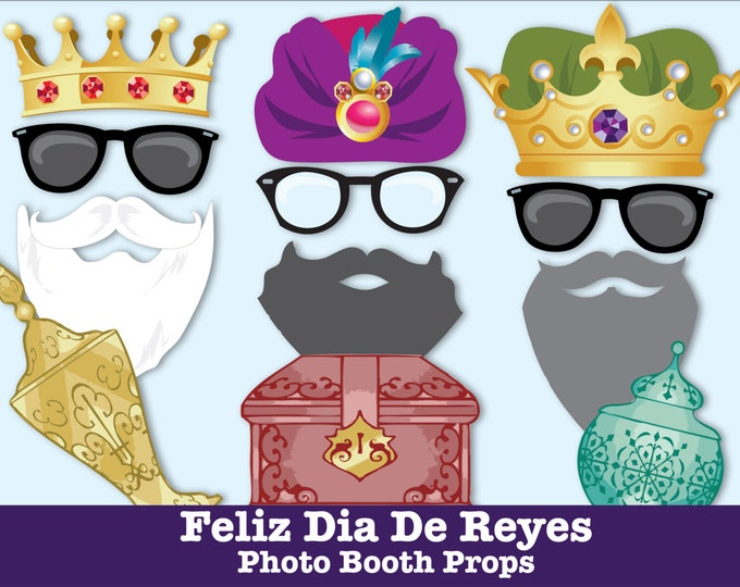 Feliz Dia de Reyes Photo Booth Props, 3 Wise Men Day, Three Wise Men, 3 Kings Cake -  NSTANT Download PDF - 31 DIY Printable Props