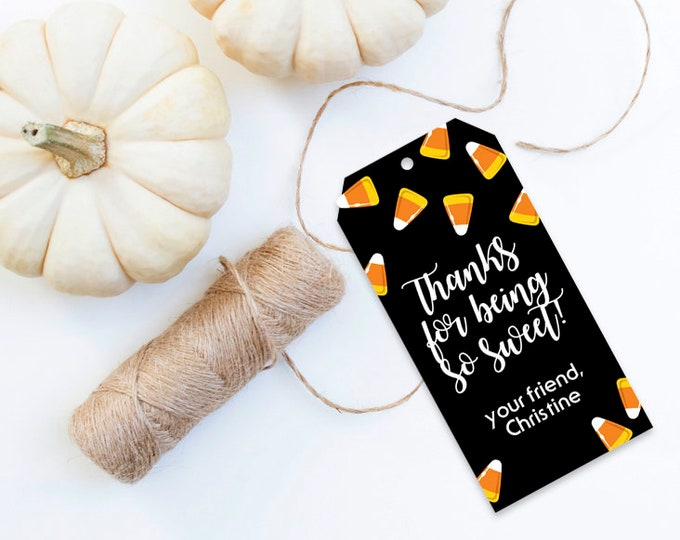 Candy Corn Favor Tag - Halloween Party, Candy Corn Gift Tag, Halloween Tag | Editable Instant Download DIY Printable PDFs