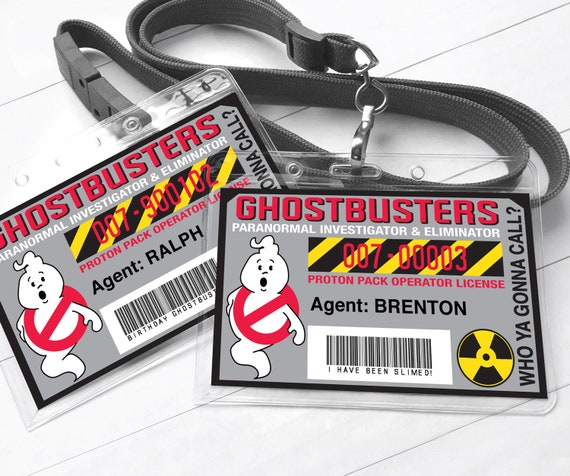 ghost buster badges ghost buster i d badge ghostbusters birthday