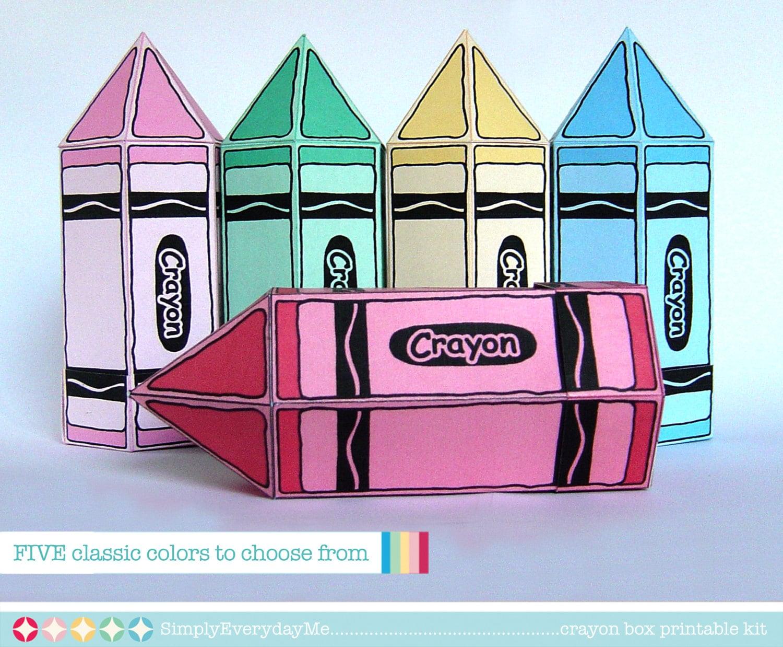 Cinco caja de lápices de colores para cumpleaños ducha | Etsy