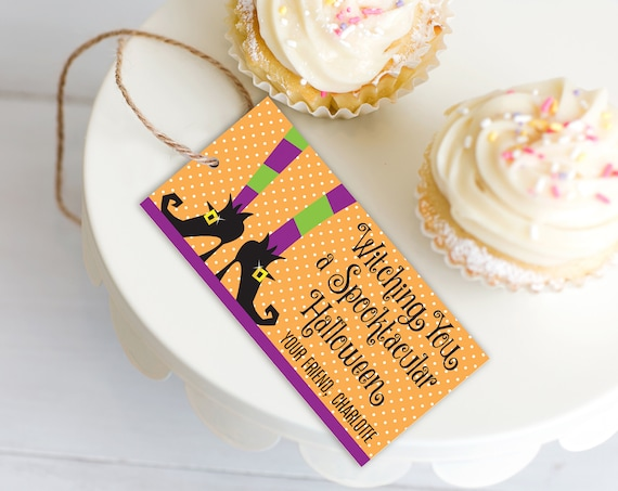 Witch Party Favor Tag - Halloween Party, Witch Gift Tag | Editable Instant Download DIY Printable PDFs